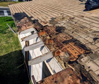 broken roof